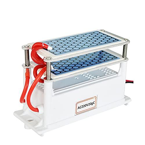 ATWFS 220 V 20 G / H Generador de Ozono Placas de Cerámica Integradas con Portátil(Dos Capas/4 Rodajas) Adecuadas para Ozonizador de Aire, Purificador de Aire, Esterilizador
