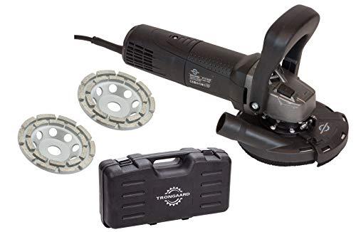 TRONGAARD Betonschleifer/Winkelschleifer Set 1700 Watt / 125mm inkl. Drehzahlregelung
