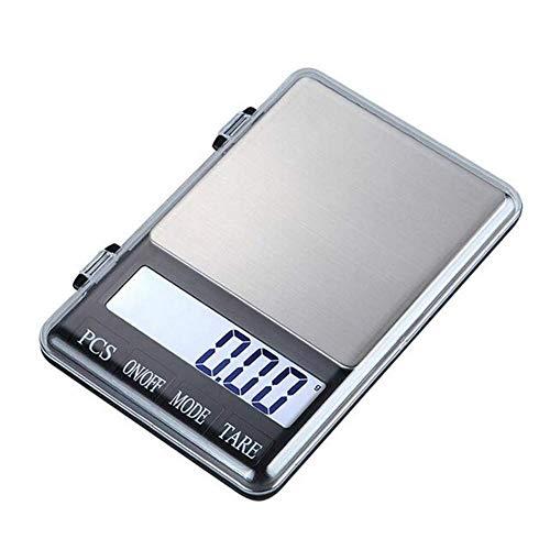 LLDKA slank design digitale keukenweegschaal met LCD precisie backschaal, 600G 0,01g goud-minitas palm geneeskunde genoemd