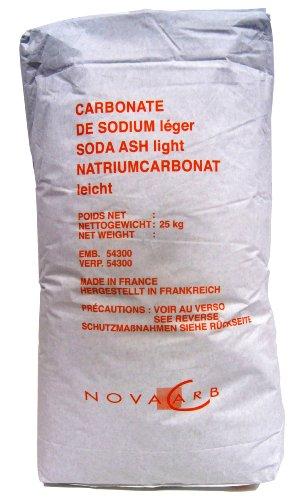 Natriumcarbonat Waschsoda leicht Waschkraftverstärker Soda pur 25 kg Papiersack