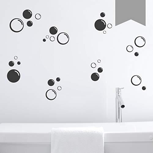 Wandkings Wandtattoo Seifenblasen im Set, 30 Stück Größe SMALL in Mittelgrau - erhältlich in 33 Farben