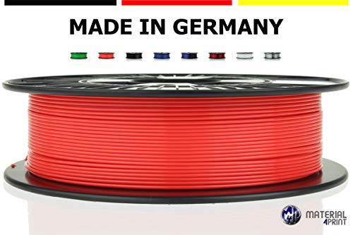 Material4Print - PETG Filament Ø 1,75mm 750g Rolle - Premium-Qualität für 3D Drucker (Leuchtrot)