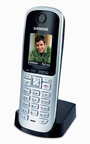 Gigaset S68H DECT Mobilteil (beleuchtetes grafisches Bildschirm, Freisprechfunktion, Bluetooth) inkl. Ladeschale titanium