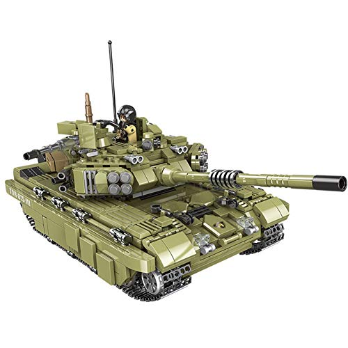 TOPD Juego de construcción de tanques militares de 1386pcs Tiger, kit de modelo de construcción de tanques militares, kit de bloques de construcción de tanques del ejército para niños y adultos, cumpl
