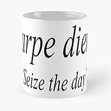 compare Aphorism Diem Carpe Latin The Translated Seize Day Best Mug Tiene 11oz de Mano Hechas de cerámica de mármol Blanco