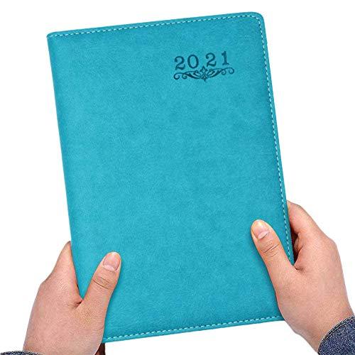 Agenda giornaliera per il 2021, Agenda Giornaliera 2021,Agenda Settimanale Formato A5 Diario settimanale per organizzare giorni occupati Copertina Morbida Calendar Schedule and Journal Notebook
