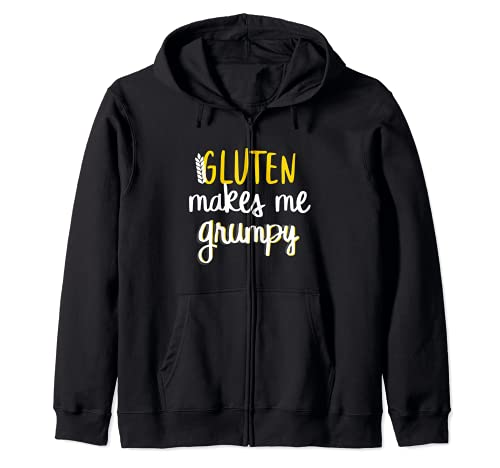 Celiachia Senza Glutine Grumpy Felpa con Cappuccio