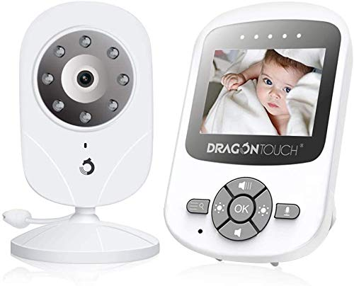 Baby Monitor, Dragon Touch DT24 Pro Baby Monitor with Camera and Audio (Gray)