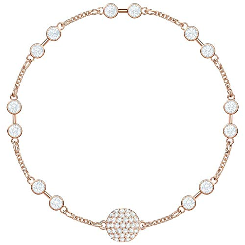 SWAROVSKI Remix Collection Carrier Rose Gold-Plated White Crystal Strand, Size Medium