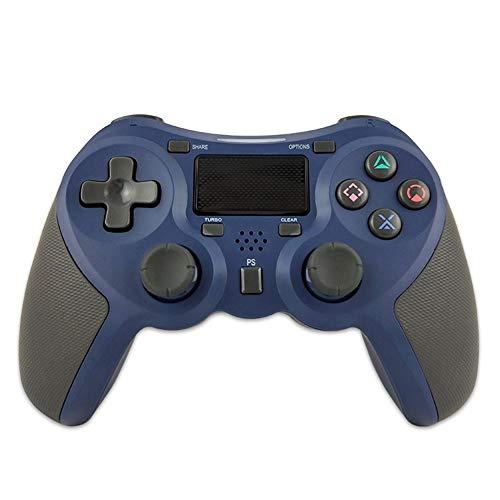 VAWA Manette de Jeu sans Fil PS4 - Manette de Jeu sans Fil avec pavé Tactile LED, Double Choc et Prise Audio, Compatible avec Playstation 4 et PC-Blue