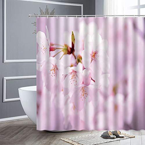 XCBN Duschraum Garten Bunte Blumen natürliche Landschaft 3D wasserdichte Badezimmer Duschvorhang Dekoration A1 200x200cm