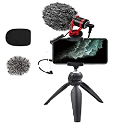 Hight-Quality Audio:combine audio and video,our smartphone microphone significantly improves your smartphone video audio quality,provide you a Better Shooting Experience,perfect for travelers,filmmakers,journalists,sporters and etc. Professional:Stan...