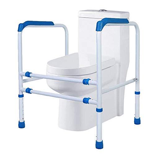 ZYRAY WC-Sicherheitsgeländer, Freistehende Toilette Rahmenbreite und -höhe einstellbar für ältere behinderte Benutzer im Badezimmer Haltegriff, Tragfähigkeit 150kg,Blue