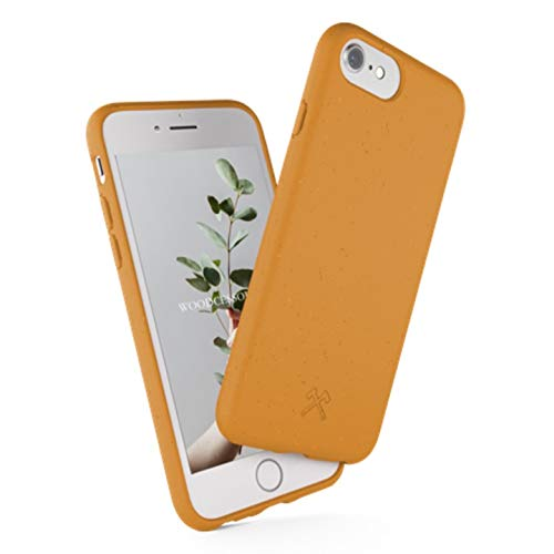 Woodcessories - Handyhülle kompatibel mit iPhone SE 2020 Hülle orange, iPhone 8 Hülle orange, iPhone 7/6 / 6s - Nachhaltig, aus Pflanzen
