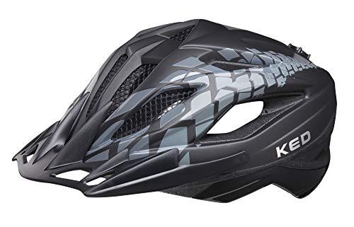 KED Street Jr. Pro M Black - 53-58 cm - inkl. RennMaxe Sicherheitsband - Fahrradhelm Skaterhelm MTB BMX Erwachsene Jugendliche