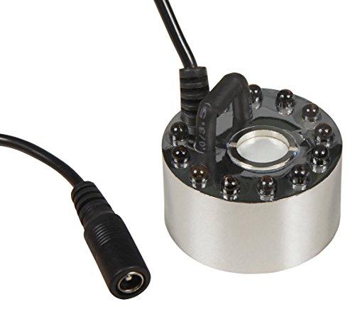McShine - Ultraschall-Nebler/Zerstäuber | LED-12 | mit 12 LEDs, Farbwechsler