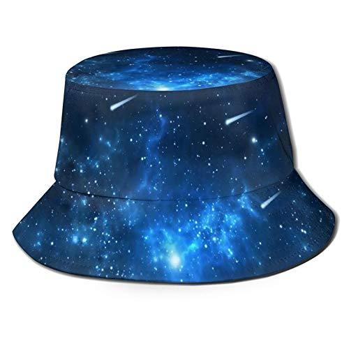 Fischerhüte für Herren, Sterne, Galaxie, Fischermütze, Jagd, atmungsaktiv, UV-Schutz, faltbar, für den Winter, Outdoor, Angeln, Hut