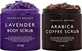 Brooklyn Botany Arabica Coffee Body Scrub & Lavender Body Scrub - Exfoliating Body Scrub – Anti Cellulite Scrub for Stretch Marks, Cellulite, Veins, Acne and Signs of Aging – Gift for Women - 10 oz