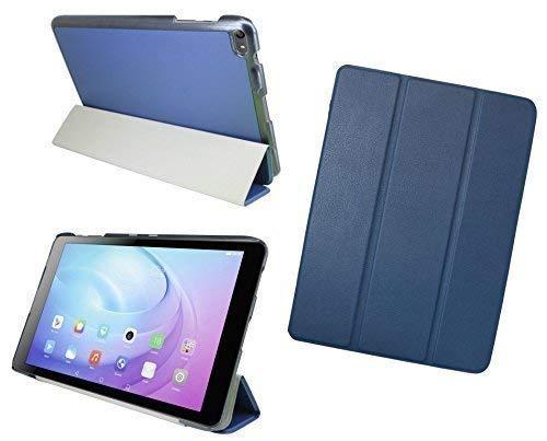 ENERGMiX Tablet Tasche Hülle kompatibel mit Huawei MediaPad T2 10.0 Pro (10,1 Zoll) Cover Hülle Etui Slim-LINE mit Ständer in Blau