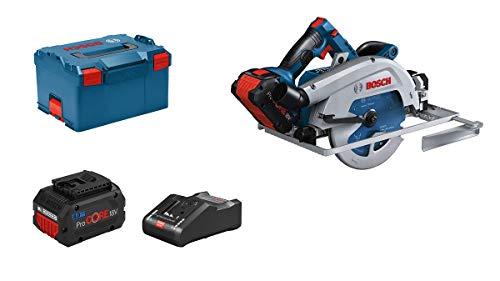 Bosch Professional BITURBO GKS 18V-68 GC Sierra circular a batería 18V, disco diametro 190 mm, módulo Connectivity, 2 baterías x 8.0 Ah, en L-BOXX