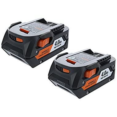 Ridgid AC840087P 18 Volt 4 Amp Hour Lithium-Ion Battery w/ Onboard Fuel Gauge (2-Pack of R840087 Battery)