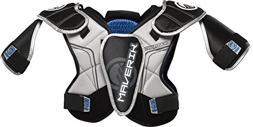 Maverik Lacrosse 450 Charger Shoulder Pad, Small, Black/Silver