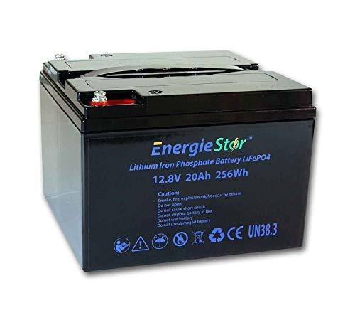 LiFePo4 Batería 12.8V iones de litio fosfato de hierro 12V Leisure Solar Caravan (20Ah, 12.8V, 256Wh, batería solamente)