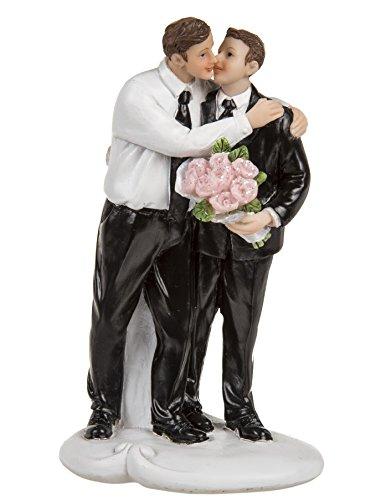 Preis am Stiel Hochzeitspaar schwul - Figuren lustig - Hochzeitsfigur Männliches Küssendes Brautpaar Just Married ~