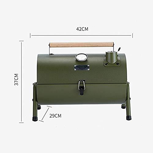 41nlY6GZ1pL. SL500  - Kunyun Tragbarer Outdoor-Grill, Terrasse, Camping, Picknick, Herd, Farbe: Rot, Größe: 42 x 29 x 37 cm