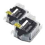 RICR Cartuchos De Tinta para B-LC3617 / 3619XL, Reemplazo Compatible Usado para Brother MFC-J2330DW MFC-J2730DW MFC-J3530DW MFCJ-3930DW Impresora 3617/19 BK*2