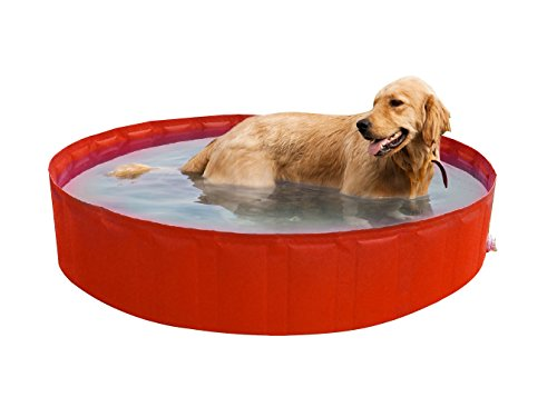 New Plast My Dog Pool Ø 220 cm Piscina per Cani, Arancione, 35.5x15x5.5 cm