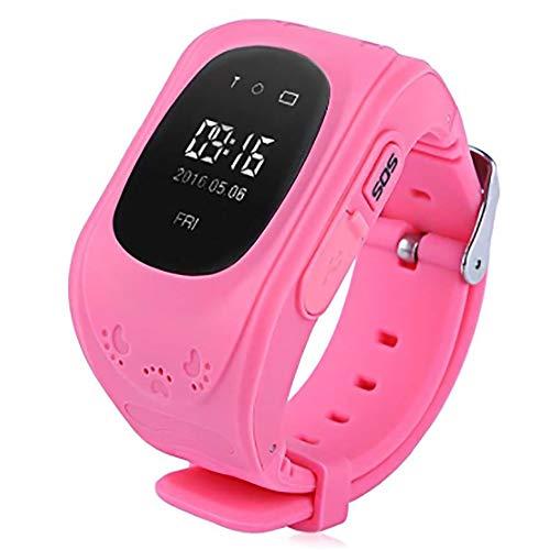 YASB Q50 Kinder GPS-Uhr Für Kinder GPS Tracker Smartwatch Android Smart Watch Günstige SOS-Panik-Knopf Kinder Smart Watch GPS,Rosa