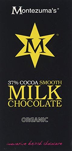 Montezuma's 34% Cocoa Smooth Milk Chocolate Organic 100 g (Pack of 4)