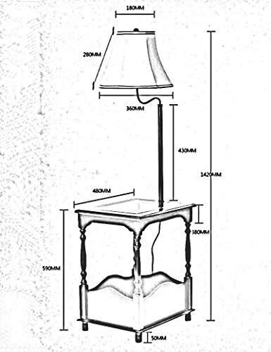 Huishouden meerdere scènes staande lampen, gehard glas doek zonnescherm salontafel verticale slaapkamer stijlvolle woonkamer gloeilamp inbegrepen decoratieve staande lamp, 2, B-D 3