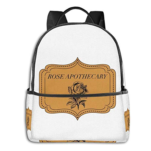 Schit-ts Cree-k Rose Apothecary Fan Art Travel Laptop Backpack Student SchoolBag