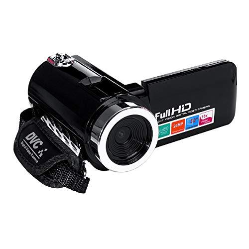 4k Total HD 1080P 24MP 18X Zoom 3 Pulgadas LCD Video de videocámara Digital DV Cámara 5. 0MP CMOS Sensor para Youtube Vlogging