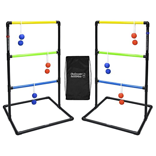 GoSports Indoor / Outdoor Ladder Toss Game Set with 6 Rubber Bolos,...