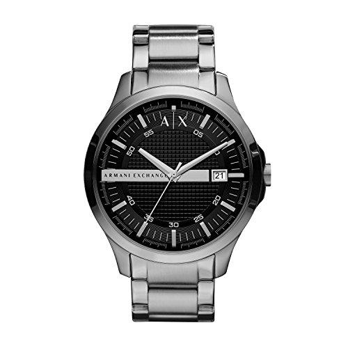 Armani Exchange Herren Analog Quarz Uhr mit Edelstahl Armband AX2103