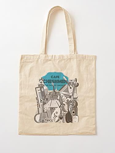 Générique Keyboard Cafe Country Music World Acoustic Iranian   Einkaufstaschen aus Segeltuch mit Griffen, Einkaufstaschen aus robuster Baumwolle