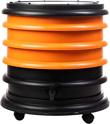 WormBox : Wurmkomposter Wurmfarm mit 3 Schalen Orange - 48 Liter