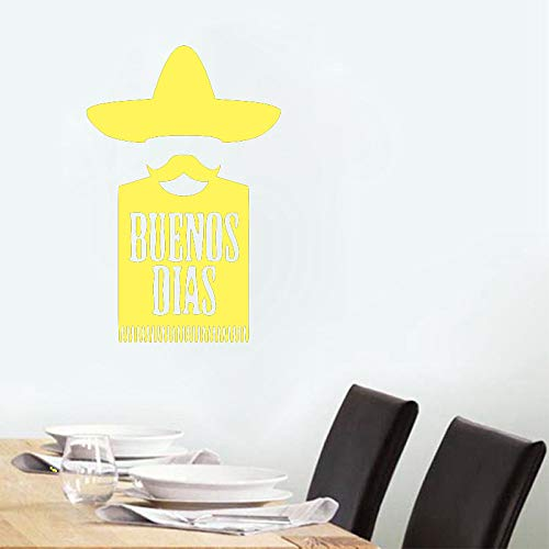 Buenos Dias Cuisine Mexicaine Cuisine Stickers Muraux Vinyle Decal Chambre Home Art Decor Sticker Décorations Murales Décoration de La Maison couleur-3 56x86cm