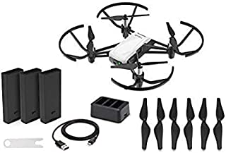 DJI Tello Boost Combo - Mini Drone with 5MP Camera for Kids and Adults, RC Quadcopter with 720p HD Video, 13min Flight Time, Scratch Programming, Educational Toy, Selfies, Powered by Ryze, White