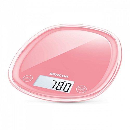 Sensor  SKS 34RD- Balanza de cocina, pantalla LCD, 5.3 x 2.3 cm, Rosa