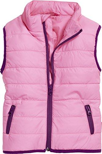 Schnizler Baby-Unisex Steppweste Uni Weste, Rosa (pink 18), 74