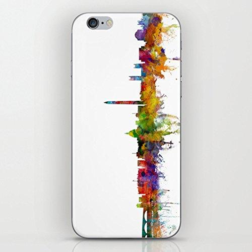 Koienou Washington DC skyline–hard shell Black sides cover custodia per iPhone 6(11,9cm)/6S