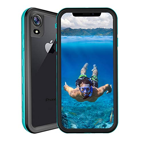 Funda Impermeable iPhone XR, SenMore 360 Funda IP68 Sumergibles Delgado Cover a prueba de choques Anti-rasguños Full Body...
