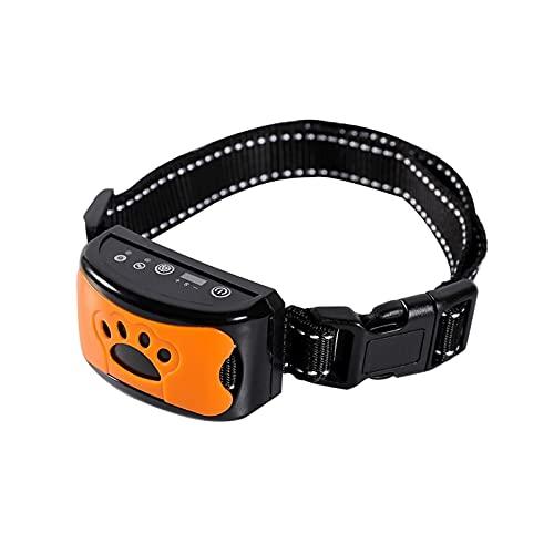 Z-COLOR 2IN1 cuello de perro anti-corteza  Detener el dispositivo de ladrar para pequeños perros grandes grandes, sin shock de forma segura y humana por sonido y vibración, recargable sin collar de en