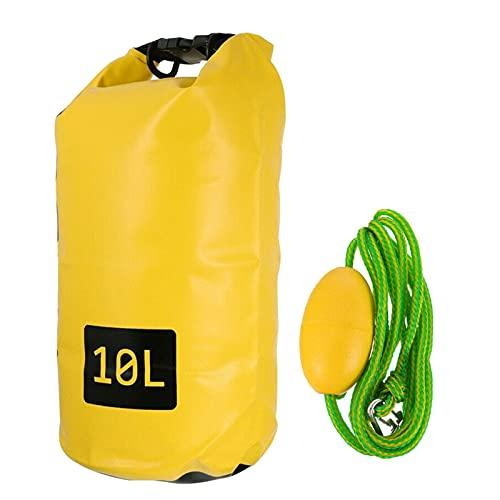 OKUGAIYA Bolsa flotante impermeable de 10 l, para mantener el equipo seco como accesorio de camping, bote inflable, kayak, rafting, canoa, natación, playa, canotaje, canotaje, camping, etc.