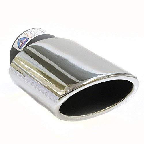 Autohobby 230 Auspuffblende Auspuff Universal Schalldampf Endrohr Edelstahl bis 57mm Ø A B C G D H J CC 3 4 5 6 7 Chrom