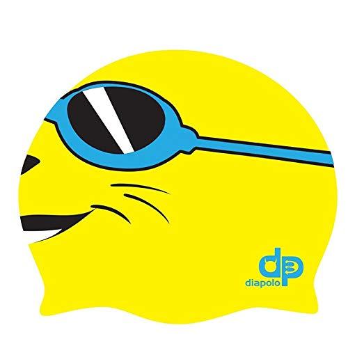 Diapolo Professionale Schwimmkappe Seal Yellow Silikon Badekappe Bademütze Schwimmmütze für Damen und Herren und Mädchen und Jungen